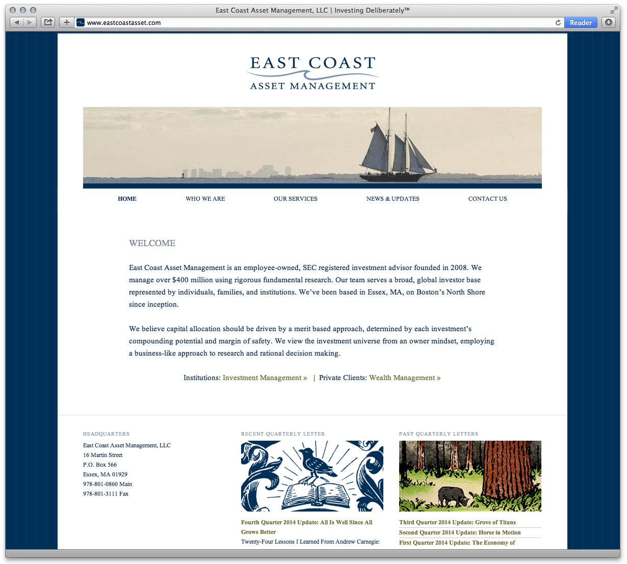 East Coast Asset Management Website