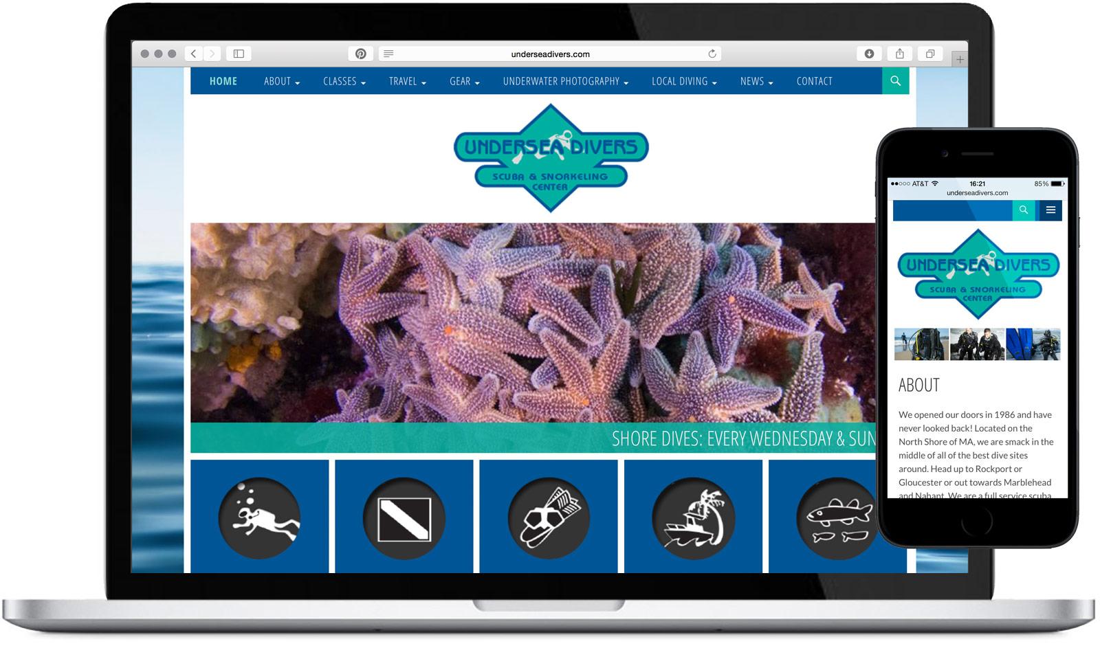 Undersea Divers Website