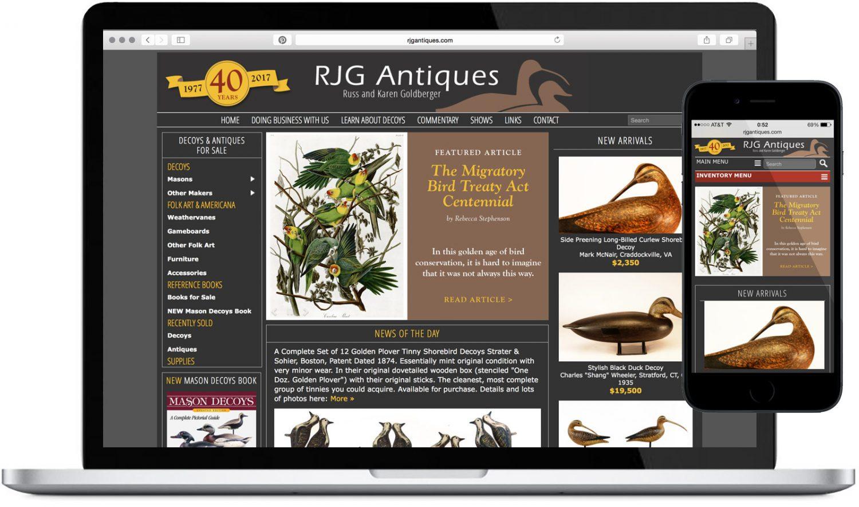 RJG Antiques Website