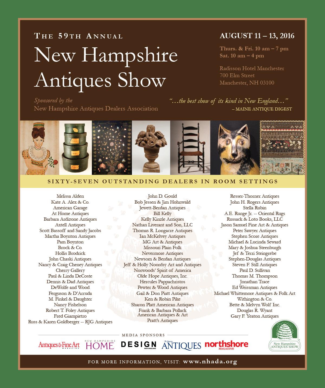 NHADA New Hampshire Antiques Show - 2016 Ad